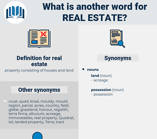 real estate, synonym real estate, another word for real estate, words like real estate, thesaurus real estate