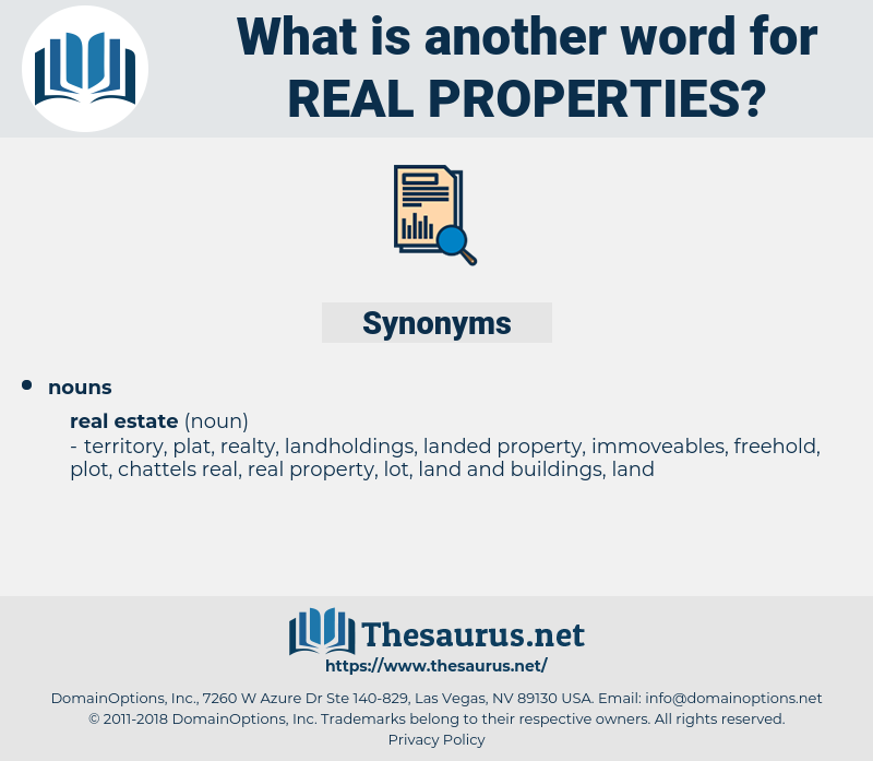 real properties, synonym real properties, another word for real properties, words like real properties, thesaurus real properties