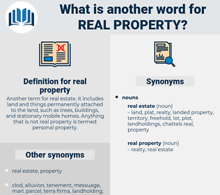 real property, synonym real property, another word for real property, words like real property, thesaurus real property