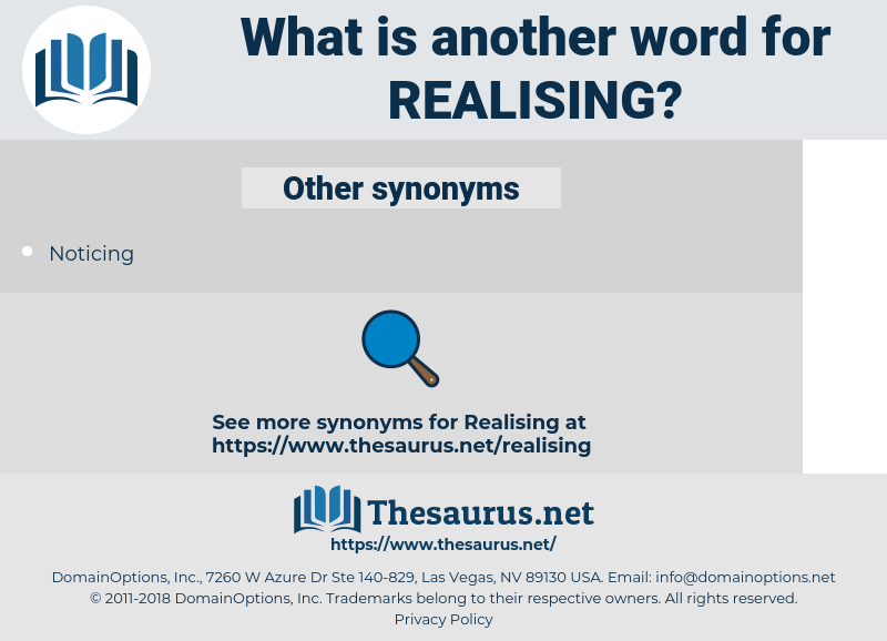 realising, synonym realising, another word for realising, words like realising, thesaurus realising