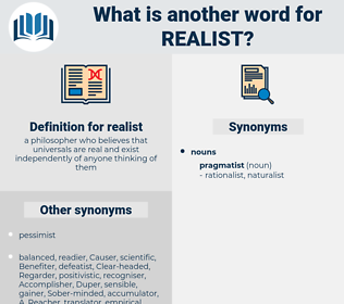 realist, synonym realist, another word for realist, words like realist, thesaurus realist