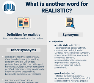 realistic, synonym realistic, another word for realistic, words like realistic, thesaurus realistic