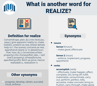 realize, synonym realize, another word for realize, words like realize, thesaurus realize