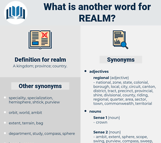 realm, synonym realm, another word for realm, words like realm, thesaurus realm