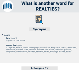 realties, synonym realties, another word for realties, words like realties, thesaurus realties