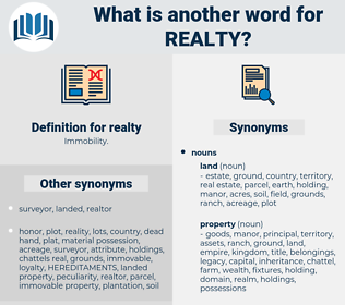 realty, synonym realty, another word for realty, words like realty, thesaurus realty