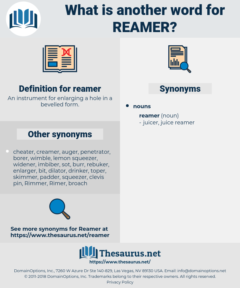 reamer, synonym reamer, another word for reamer, words like reamer, thesaurus reamer