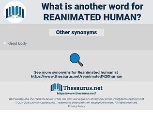 reanimated human, synonym reanimated human, another word for reanimated human, words like reanimated human, thesaurus reanimated human