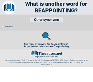 reappointing, synonym reappointing, another word for reappointing, words like reappointing, thesaurus reappointing