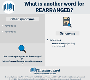 rearranged, synonym rearranged, another word for rearranged, words like rearranged, thesaurus rearranged