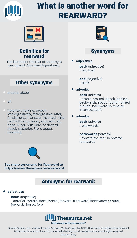 rearward, synonym rearward, another word for rearward, words like rearward, thesaurus rearward