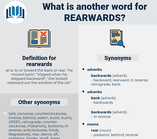rearwards, synonym rearwards, another word for rearwards, words like rearwards, thesaurus rearwards