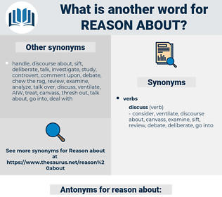 reason about, synonym reason about, another word for reason about, words like reason about, thesaurus reason about