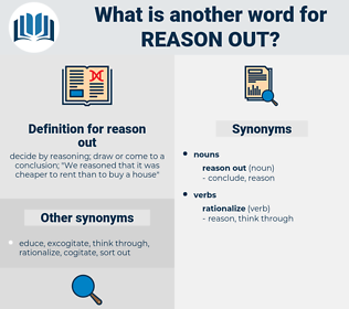reason out, synonym reason out, another word for reason out, words like reason out, thesaurus reason out