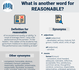 reasonable, synonym reasonable, another word for reasonable, words like reasonable, thesaurus reasonable