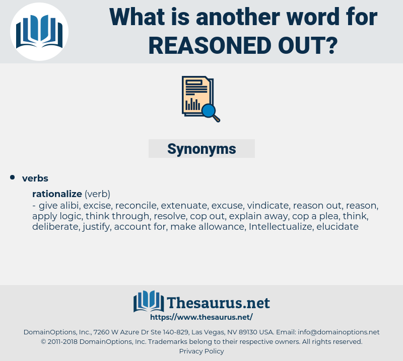 reasoned out, synonym reasoned out, another word for reasoned out, words like reasoned out, thesaurus reasoned out