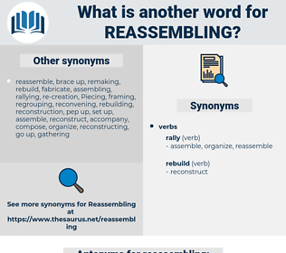 reassembling, synonym reassembling, another word for reassembling, words like reassembling, thesaurus reassembling