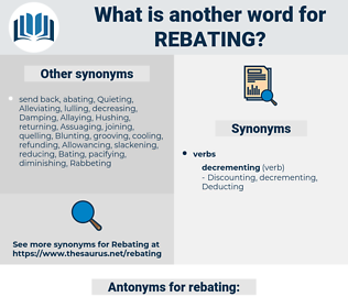 rebating, synonym rebating, another word for rebating, words like rebating, thesaurus rebating