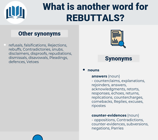 rebuttals, synonym rebuttals, another word for rebuttals, words like rebuttals, thesaurus rebuttals