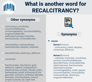 recalcitrancy, synonym recalcitrancy, another word for recalcitrancy, words like recalcitrancy, thesaurus recalcitrancy