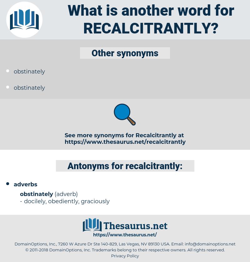 recalcitrantly, synonym recalcitrantly, another word for recalcitrantly, words like recalcitrantly, thesaurus recalcitrantly