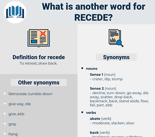 recede, synonym recede, another word for recede, words like recede, thesaurus recede