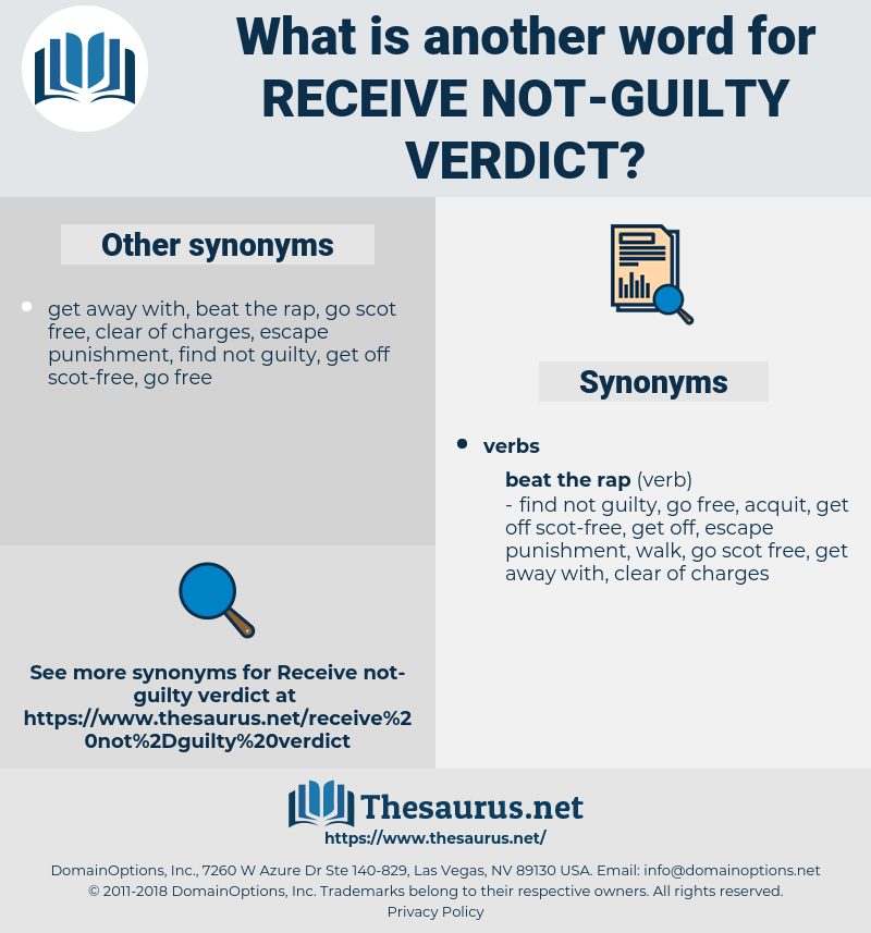 receive not-guilty verdict, synonym receive not-guilty verdict, another word for receive not-guilty verdict, words like receive not-guilty verdict, thesaurus receive not-guilty verdict