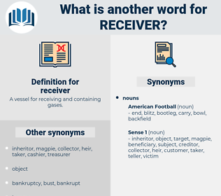 receiver, synonym receiver, another word for receiver, words like receiver, thesaurus receiver