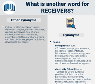 receivers, synonym receivers, another word for receivers, words like receivers, thesaurus receivers