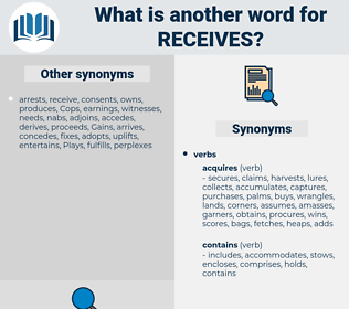 receives, synonym receives, another word for receives, words like receives, thesaurus receives