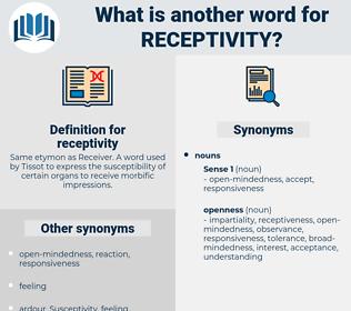 receptivity, synonym receptivity, another word for receptivity, words like receptivity, thesaurus receptivity