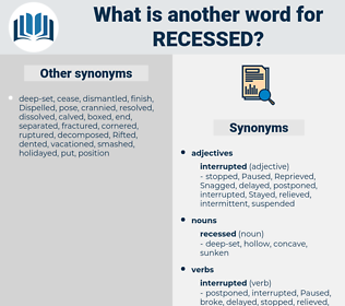 recessed, synonym recessed, another word for recessed, words like recessed, thesaurus recessed