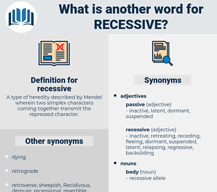 recessive, synonym recessive, another word for recessive, words like recessive, thesaurus recessive