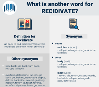 recidivate, synonym recidivate, another word for recidivate, words like recidivate, thesaurus recidivate