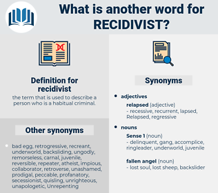 recidivist, synonym recidivist, another word for recidivist, words like recidivist, thesaurus recidivist