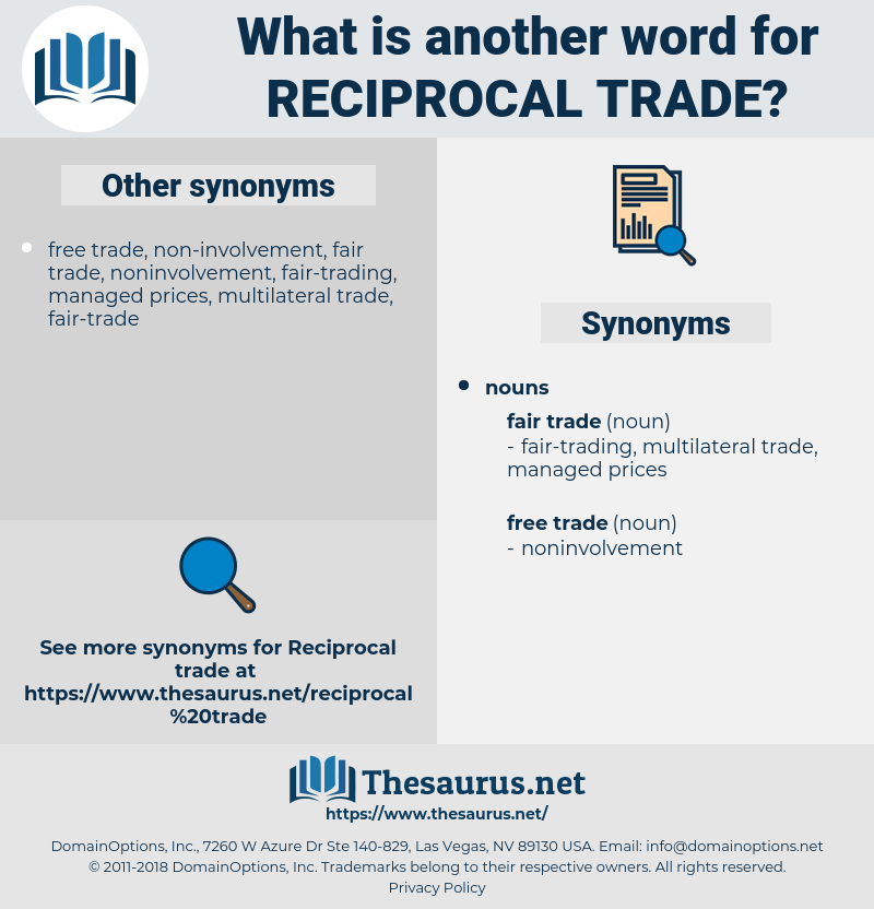 reciprocal trade, synonym reciprocal trade, another word for reciprocal trade, words like reciprocal trade, thesaurus reciprocal trade
