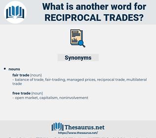 reciprocal trades, synonym reciprocal trades, another word for reciprocal trades, words like reciprocal trades, thesaurus reciprocal trades