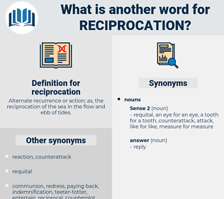 reciprocation, synonym reciprocation, another word for reciprocation, words like reciprocation, thesaurus reciprocation