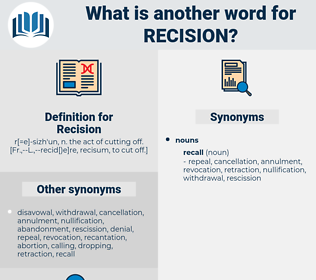 Recision, synonym Recision, another word for Recision, words like Recision, thesaurus Recision