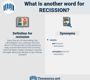 recission, synonym recission, another word for recission, words like recission, thesaurus recission