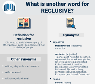 reclusive, synonym reclusive, another word for reclusive, words like reclusive, thesaurus reclusive