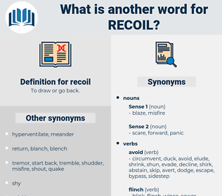 recoil, synonym recoil, another word for recoil, words like recoil, thesaurus recoil