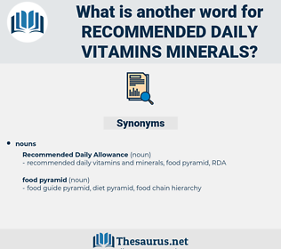 recommended daily vitamins minerals, synonym recommended daily vitamins minerals, another word for recommended daily vitamins minerals, words like recommended daily vitamins minerals, thesaurus recommended daily vitamins minerals