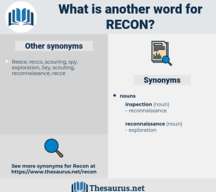 RECON, synonym RECON, another word for RECON, words like RECON, thesaurus RECON