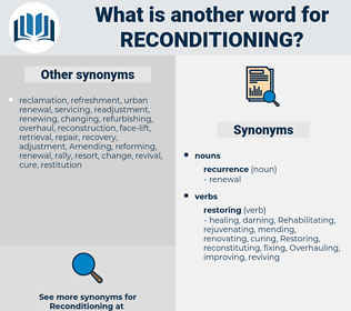 reconditioning, synonym reconditioning, another word for reconditioning, words like reconditioning, thesaurus reconditioning