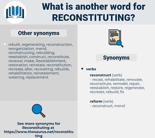 reconstituting, synonym reconstituting, another word for reconstituting, words like reconstituting, thesaurus reconstituting