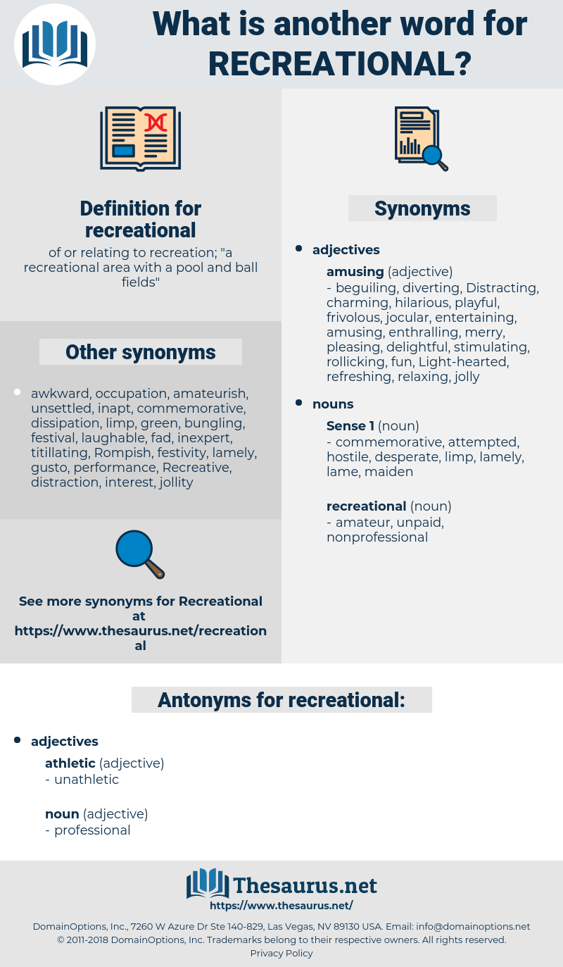 recreational, synonym recreational, another word for recreational, words like recreational, thesaurus recreational