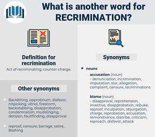 recrimination, synonym recrimination, another word for recrimination, words like recrimination, thesaurus recrimination
