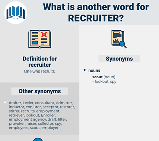 recruiter, synonym recruiter, another word for recruiter, words like recruiter, thesaurus recruiter
