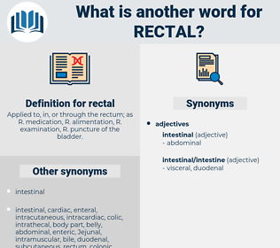 rectal, synonym rectal, another word for rectal, words like rectal, thesaurus rectal